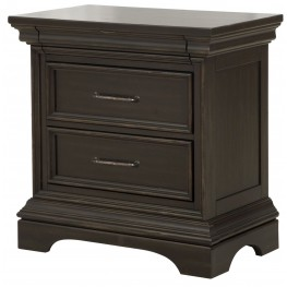 Caldwell Black 3 Drawers Nightstand