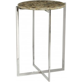 Linden Silver Accent Table