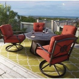 Burnella Gray Round Outdoor Dining Set