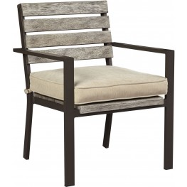 Peachstone Beige and Brown Outdoor Chair Set of 2