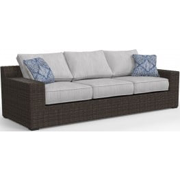 Alta Grande Beige Outdoor Sofa with Cushion