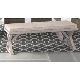 Beachcroft Beige Bench with Cushion