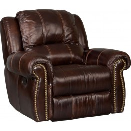 Jackson Brown Leather Glider Recliner