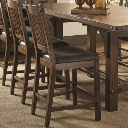 Padima Rustic Leather Counter Height Chair Set of 2