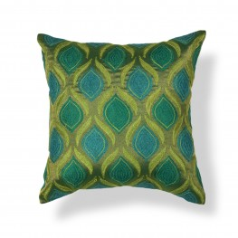 PILL10718SQ Teal And Green Tribeca Pillow