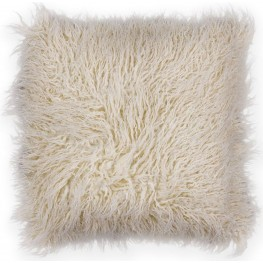 PILL25620SQ Ivory Shaggy Pillow