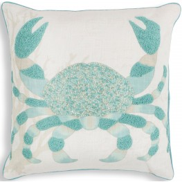 PILL27318SQ Aqua Crab Pillow