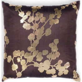 PILL29618SQ Chocolate Flora Pillow