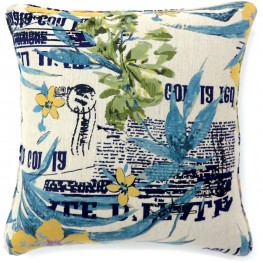 "Isa Multi Floral 18"" Pillow Set of 2"