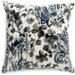 "Ria Gray And Blue 18"" Pillow Set of 2"