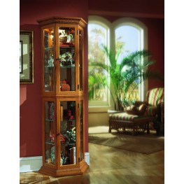 English Oak II Cabinet Curio