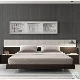 Porto Natural Light Grey Lacquer Platform Bedroom Set