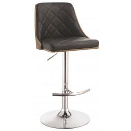 Black Upholstered Adjustable Bar Stool
