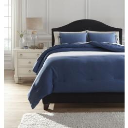 Aracely Blue King Comforter Set