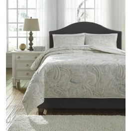 Darcila Sage Green and Cream King Coverlet Set