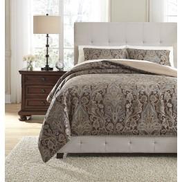 Asali Chocolate and Blue King Comforter Set