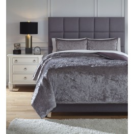 Rosemaria Gray and Taupe King Comforter Set