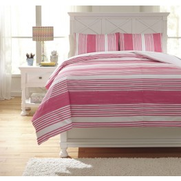 Taries Pink Full Duvet Cover Set