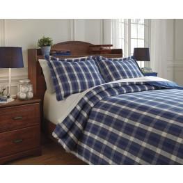Baret Blue Full Duvet Cover Set