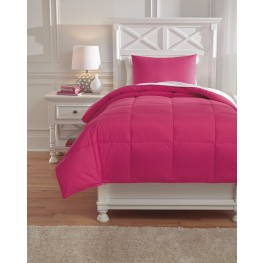 Plainfield Magenta Twin Comforter Set