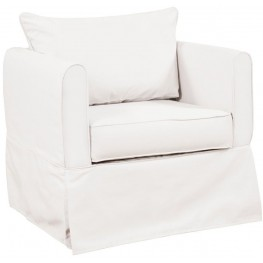 Alexandria Seascape Natural Chair Cover
