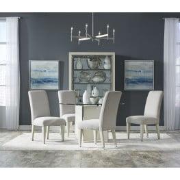 Melbourne Vanilla Perimeter Round Dining Room Set