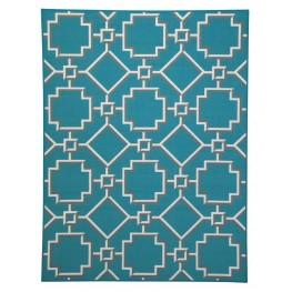 Zarek Turquoise Medium Rug