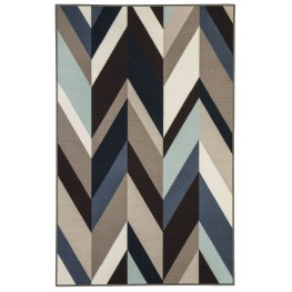 Keelia Medium Blue and Brown Rug