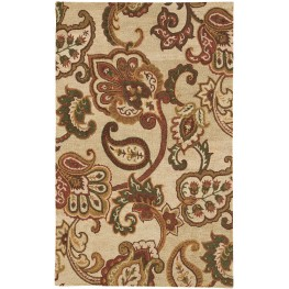 Jamelia Green and Cream Large Rug