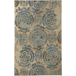 Alazne Blue and Ivory Medium Rug