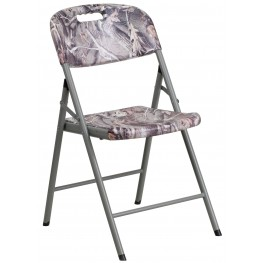 Camouflage Plastic Folding Chair