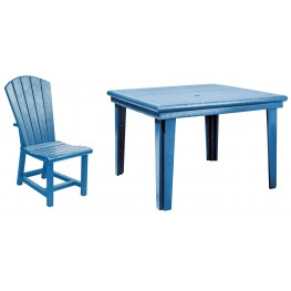 "Generations Blue 46"" Square Dining Room Set"