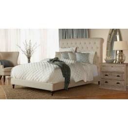 Remington Espresso Oatmeal Linen Platform Bedroom Set