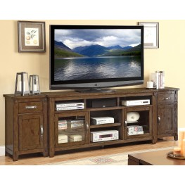 Restoration Rustic Walnut Extended TV Stand