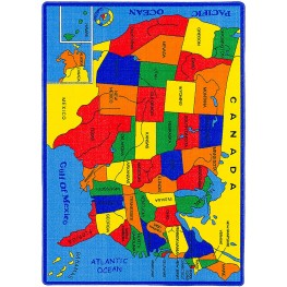 Abbey United States Map Small Area Rug