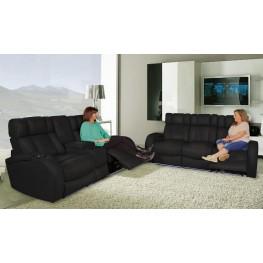 Andromeda Black Leather Gel Power Reclining Living Room Set