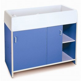 EZ Clean Blue Infant Changing Cabinet