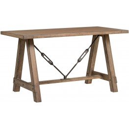 Flatbush Brown Sawhorse Desk