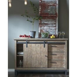 Flatbush Brown Sliding Door Console