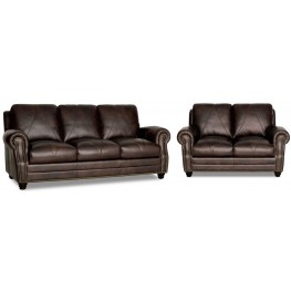 Solomon Italian Leather Living Room