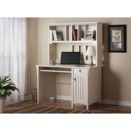 Salinas Antique White Mission Desk With Hutch