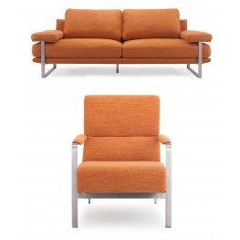 Jonkoping Sunkist Orange Living Room Set