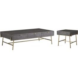 Viceroy Shagreen and Gun Metal Occasional Table Set