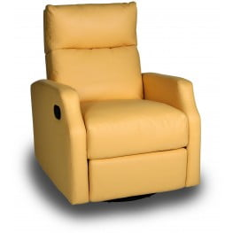 Sidney Bedford Yellow Swivel Glider Recliner