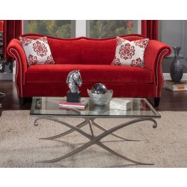 Zaffiro Ruby Red Sofa