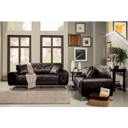 Avdira Silver Typographic Fabric Living Room Set
