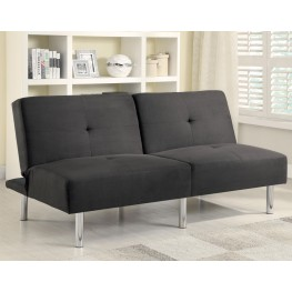 300206 Charcoal Microfiber Split Back Sofa Bed