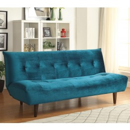 500098 Teal Velvet Tufted Sofa Bed