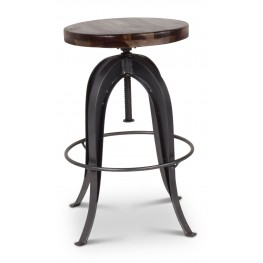 Sparrow Russet and Gray Round Bar Stool