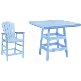 "Generation Sky Blue 42"" Square Pub Set"
